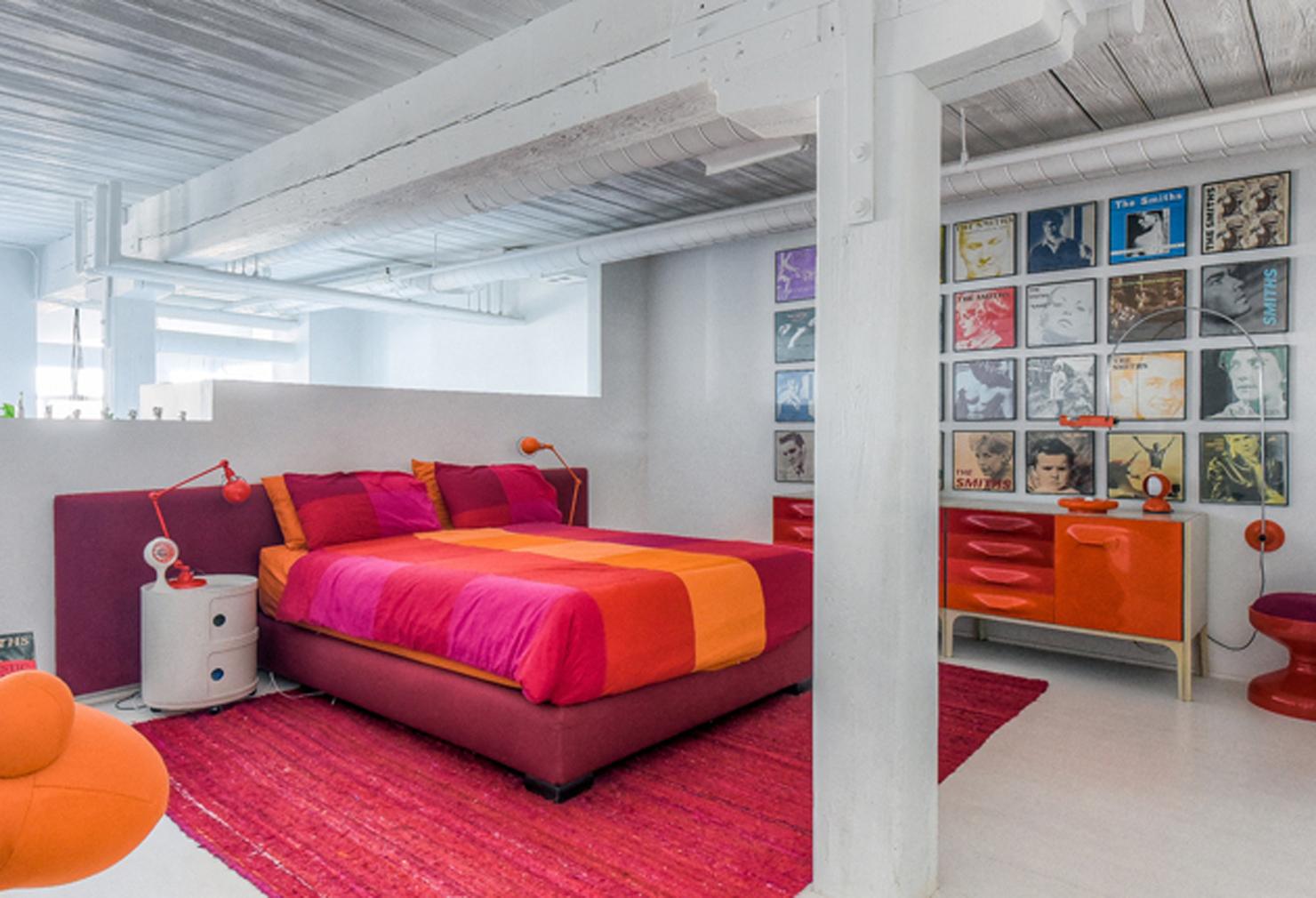 Bedroom Candy Factory Loft. Designer Stephane Chamard ...