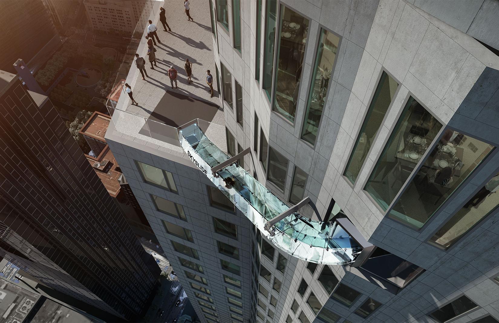 US Bank Tower slide in Downtown LA