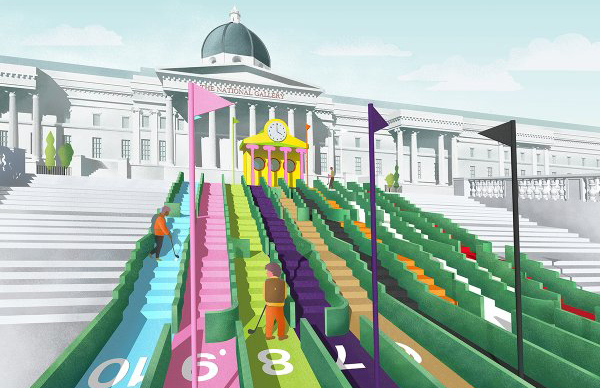 Crazy golf for LDF in Trafalgar Square