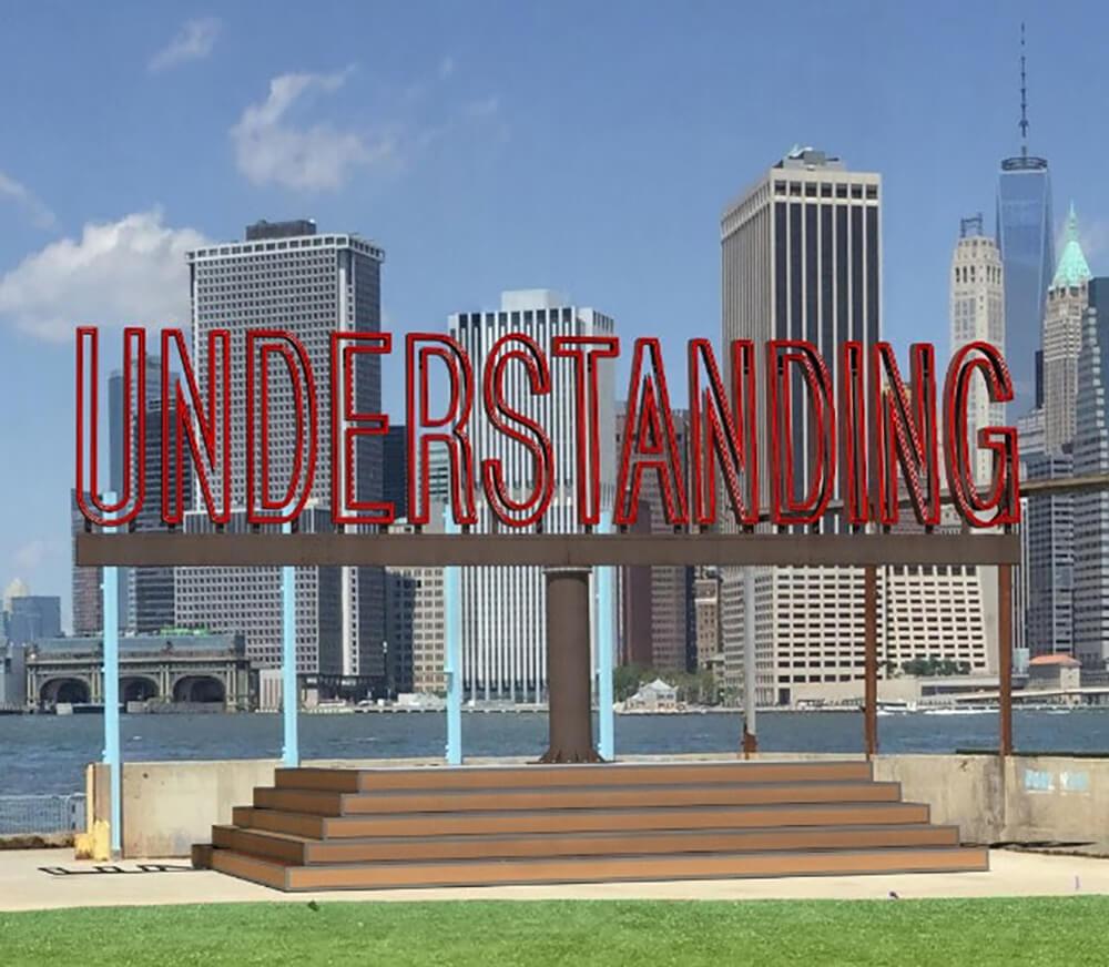 Martin Creed's 'Understanding' at Brooklyn Bridge Park