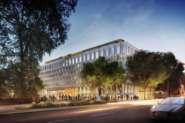 us embassy mayfair hotel facade
