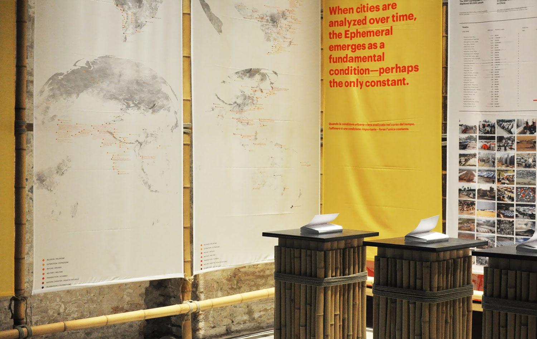 The 'Ephemeral Urbanism' installation at the Arsenale