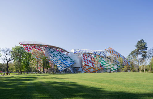 Daniel Buren gives Paris' Fondation Louis Vuitton a Technicolor makeover