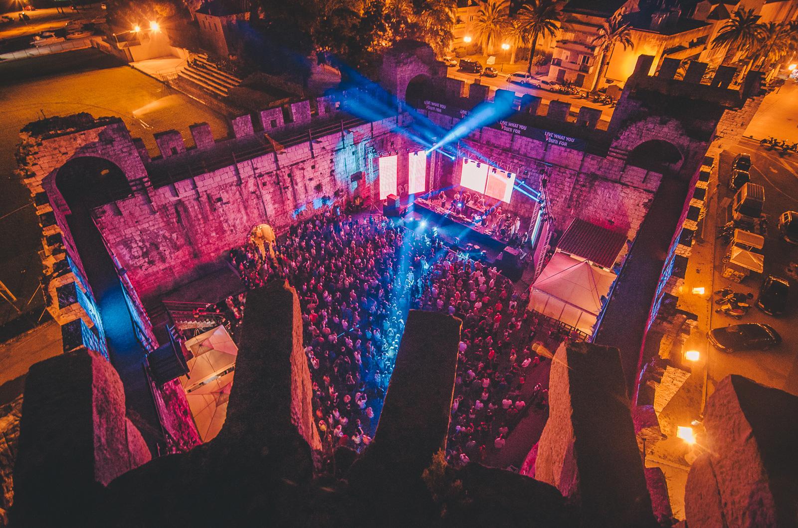 Moondance festival is held inside a 15th-century castle