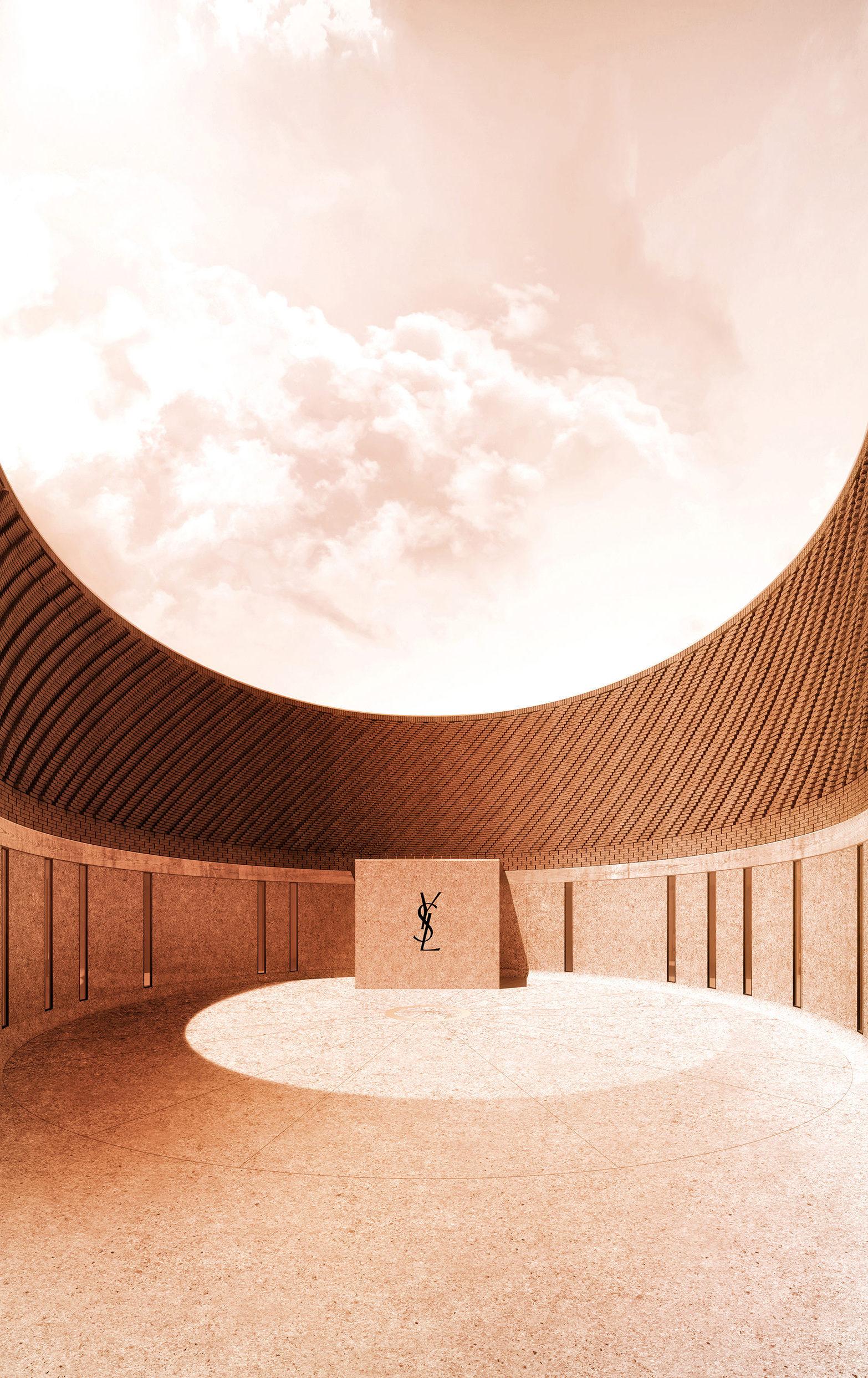 Musée Yves Saint Laurent Marrakech, entrance courtyard (c) 2016 Studio KO Fondation Pierre Bergé Yves Saint Laurent