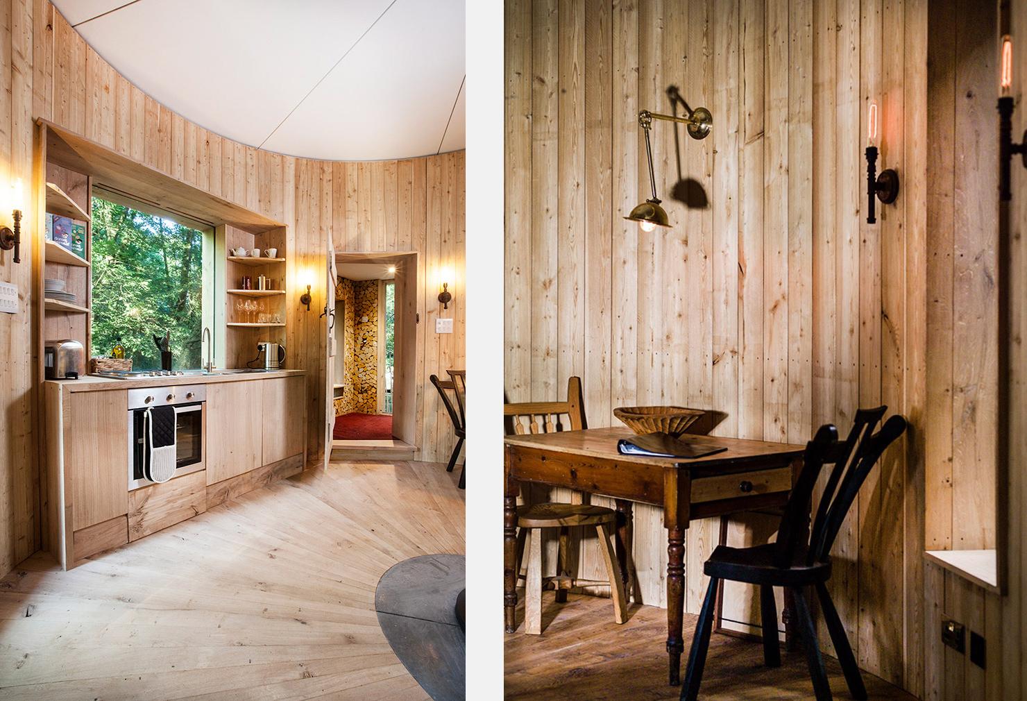 The woodsman's treehouse in Dorset, UK