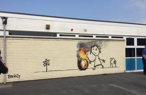 Banksy gifts surprise mural to a primary school in Bristol