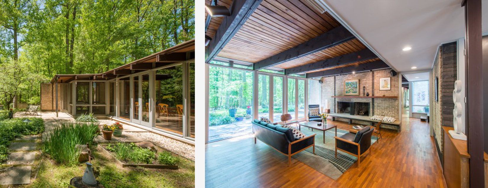 Owings mills property by architect james grieves is on the market via modern capital dc for