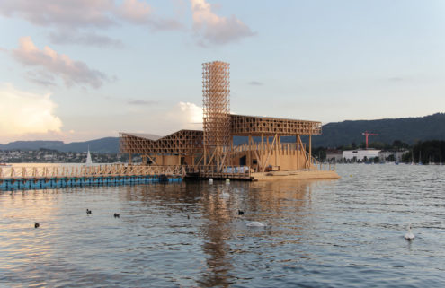 A floating pavilion puts bathing at the heart of Manifesta art biennial in Zürich