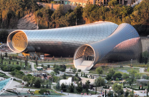 Studio Fuksas designs slug-shaped culture hub in Tbilisi's Rike Park