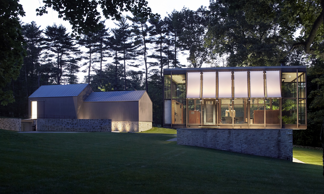 Wiley House in Connecticut by Philip Johnson. Image via Architecture for Sale