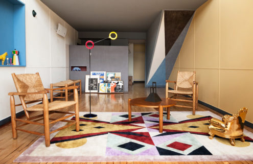 Postmodernist designer Alessandro Mendini refreshes Le Corbusier's Apartment No. 50
