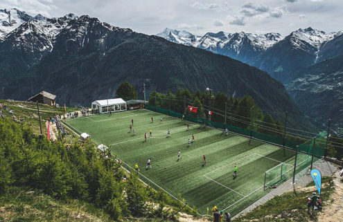Ottmar Hitzfeld Stadium in Gspon, Switzerland