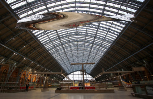 Ron Arad sets a blade in motion at London's St Pancras International station