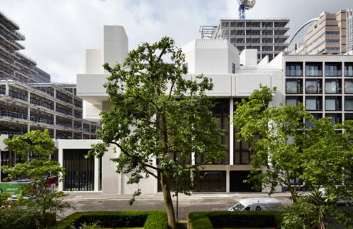 London's Brutalist landmark Salters Hall has been revamped by dMFK Architects