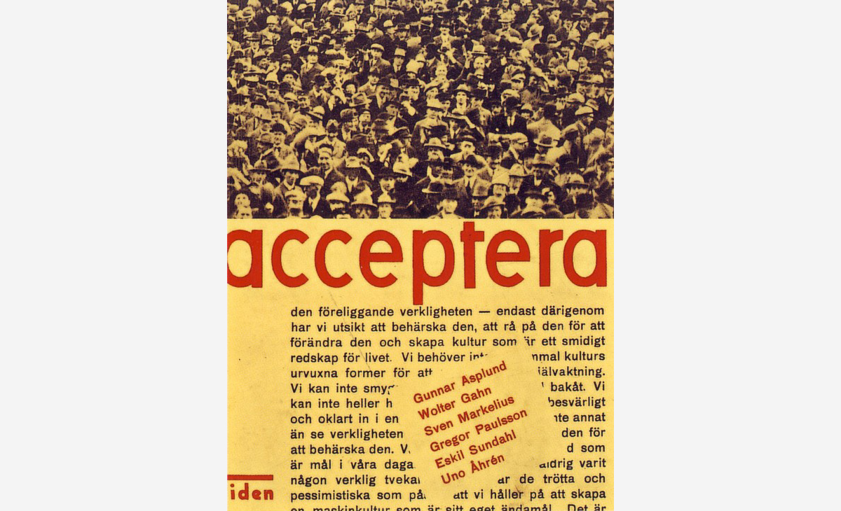 The cover of the first edition of Acceptera