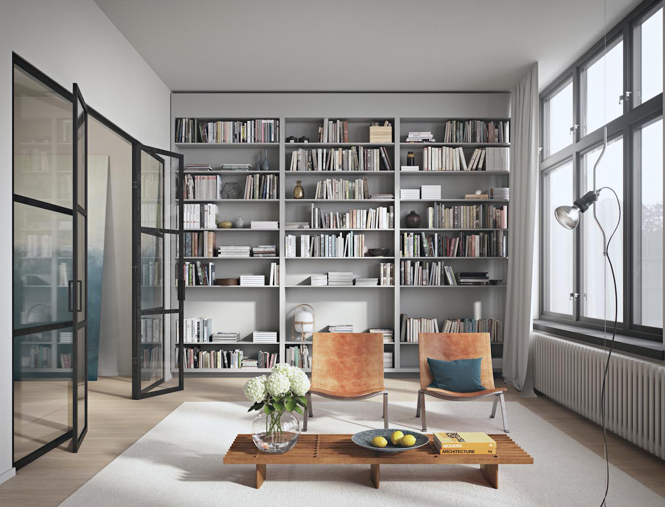 An apartment in a former radio factory in Kungsholmen, on the market via Alexander White