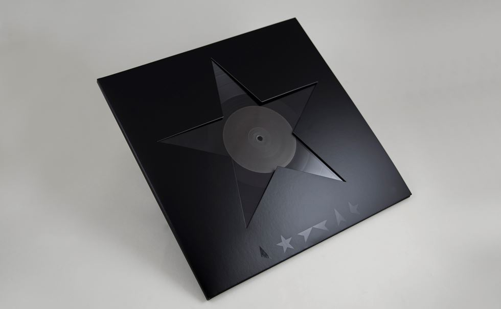 David Bowie's 'Darkstar' record artwork, by Jonathan Barnbrook