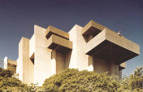 Blocky 1970s landmark by Buff & Hensman hits the market for the first time in Pasadena
