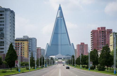 Photographer Raphael Olivier brings Pyongyang's pop-coloured landmarks to life