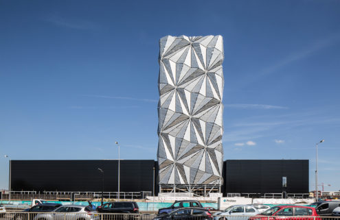 Conrad Shawcross turns an emissions tower into a sculpture in Greenwich