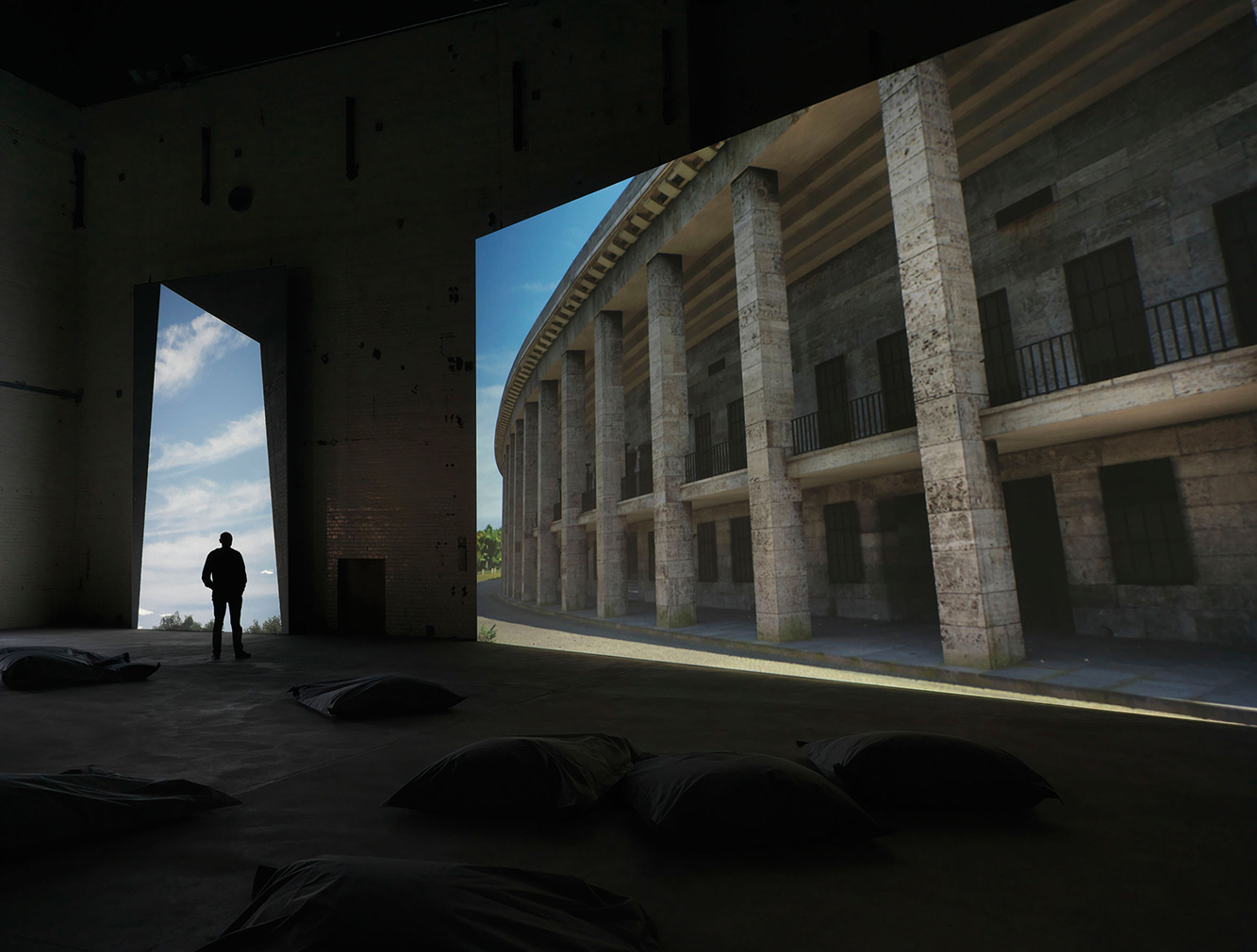 David Claerbout, 'Olympia', 2016. Real-time projection at KINDL's Boiler House. Photography: Jens Ziehe, Berlin, 2016 (c) David Claerbout / VG BILD-KUNST, Bonn, 2016