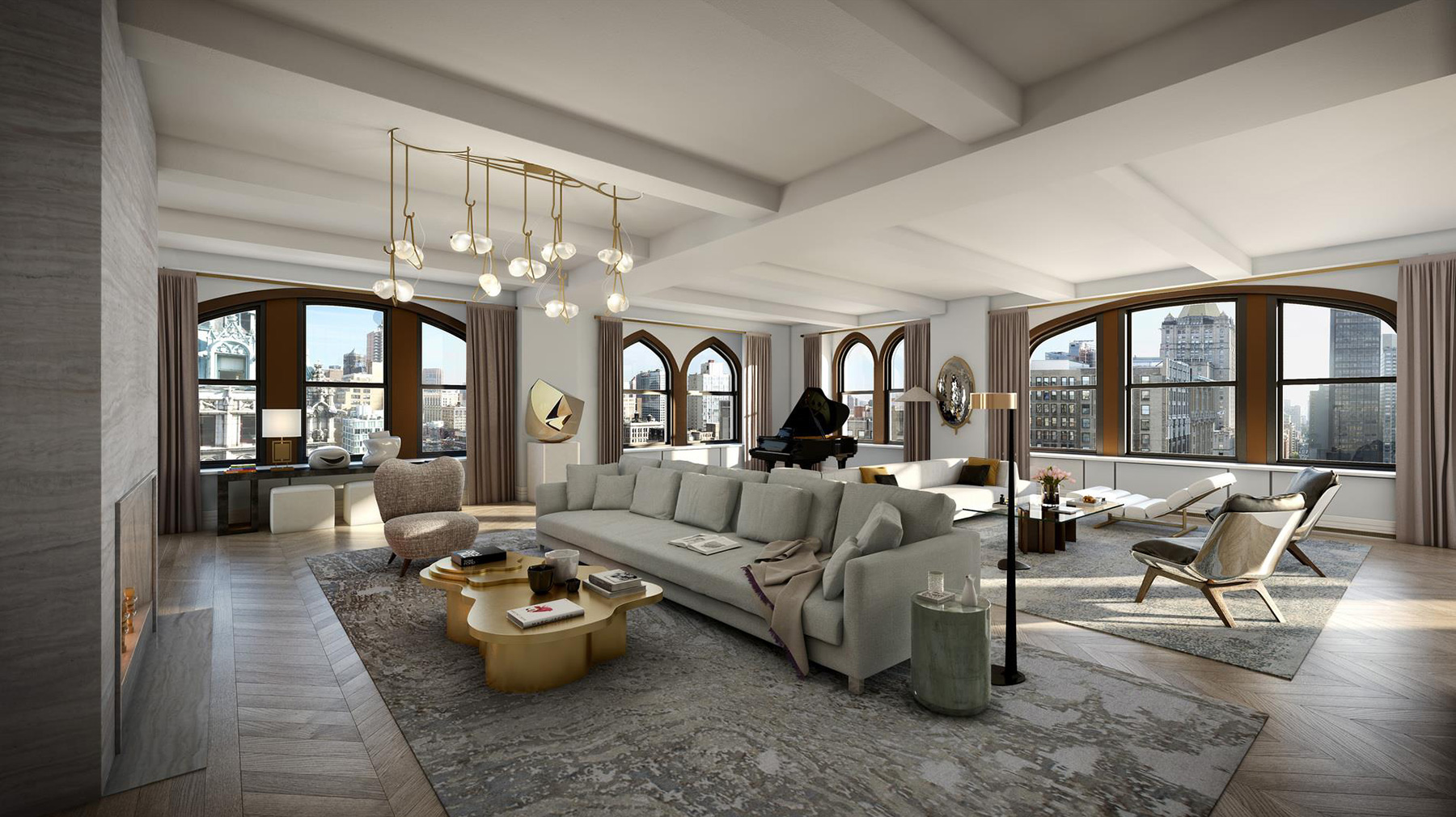 This is what a new york penthouse looks like the for Fifth avenue apartments nyc