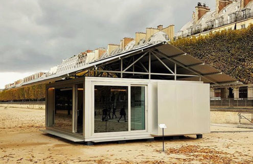 Jean Nouvel builds a prefab home in the Tuileries Garden