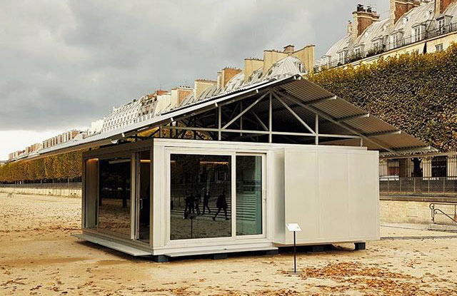 jean nouvel builds a prefab home in the tuileries garden the spaces