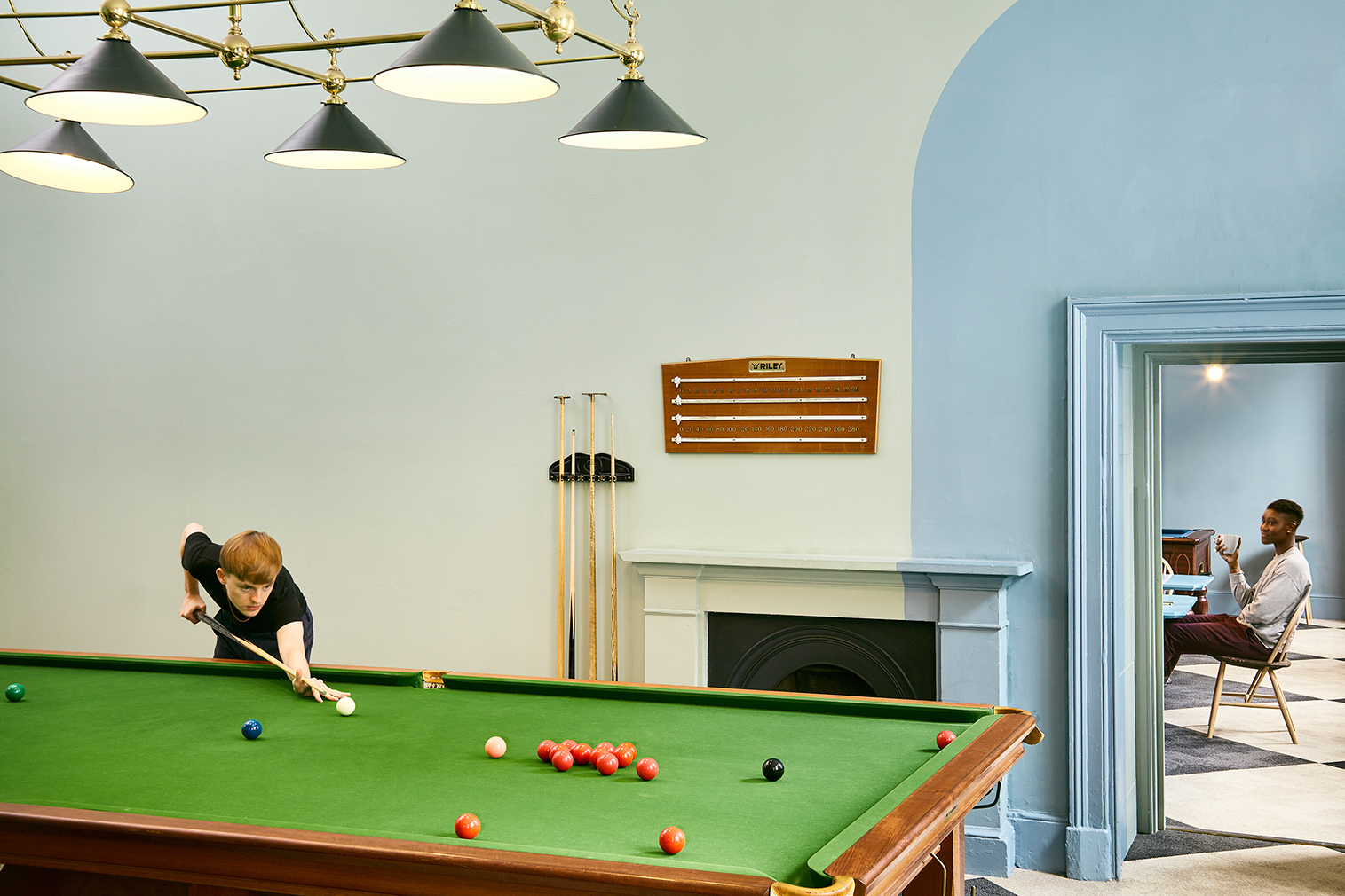 Snooker Rooms, part of Somerset House Studios. Photography: Luke Walker