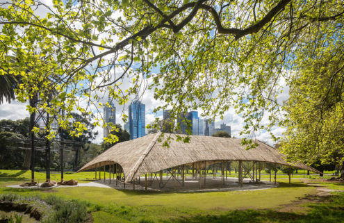 Studio Mumbai's handcrafted bamboo MPavilion springs up in Melbourne