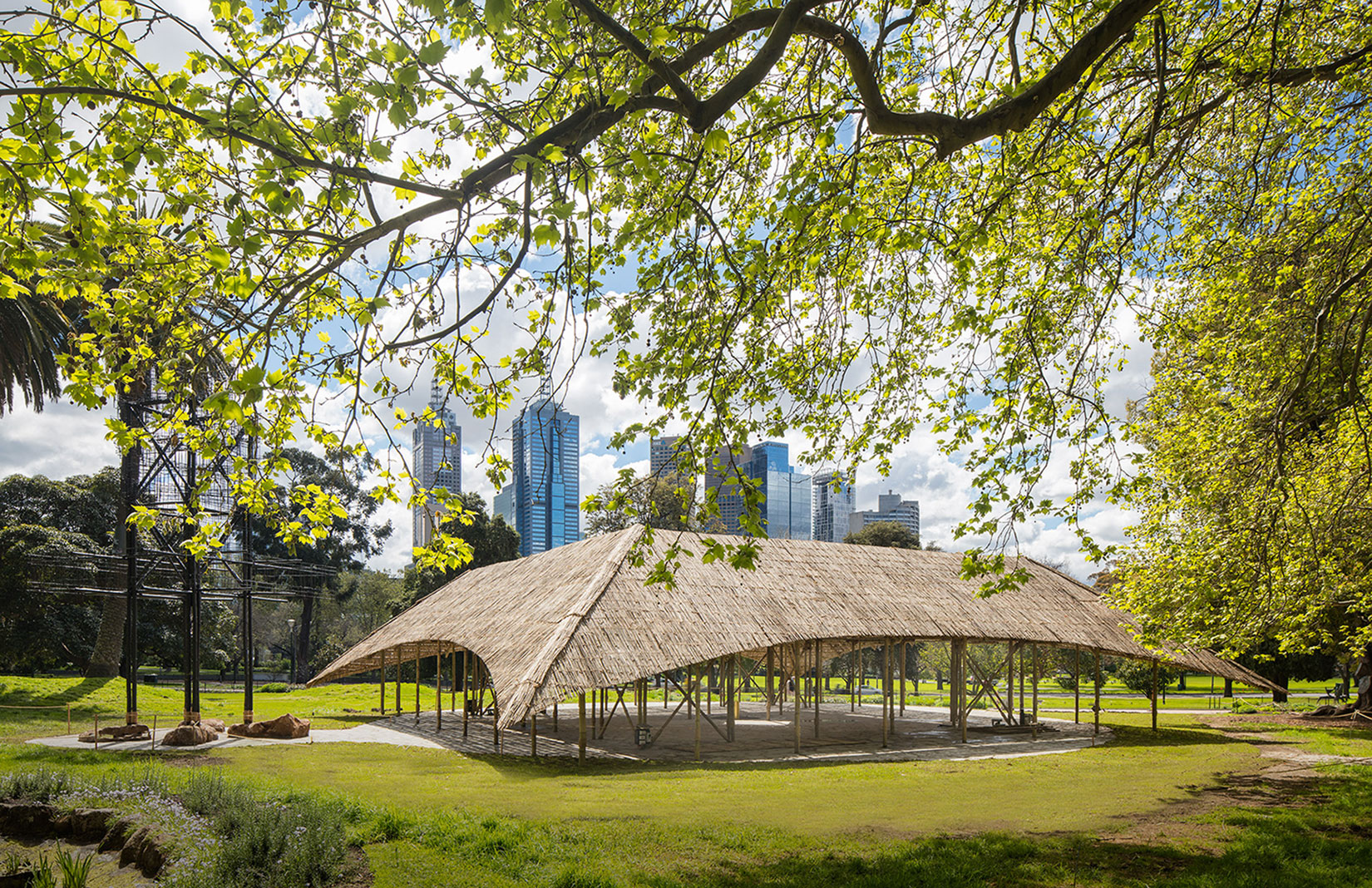 Studio Mumbai S Handcrafted Bamboo Mpavilion Springs Up In