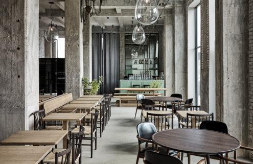 Rene Redzepi's new restaurant 108 is a raw industrial space designed by Space Copenhagen