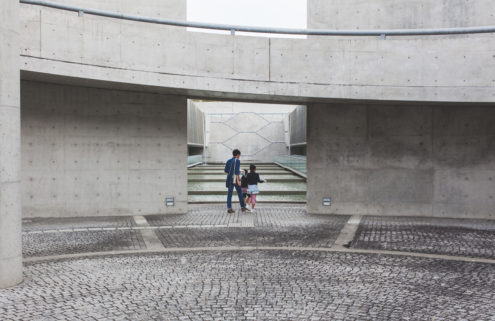 Andy Donohoe photographs the concrete curves of Tadao Ando's Sayamaike Museum