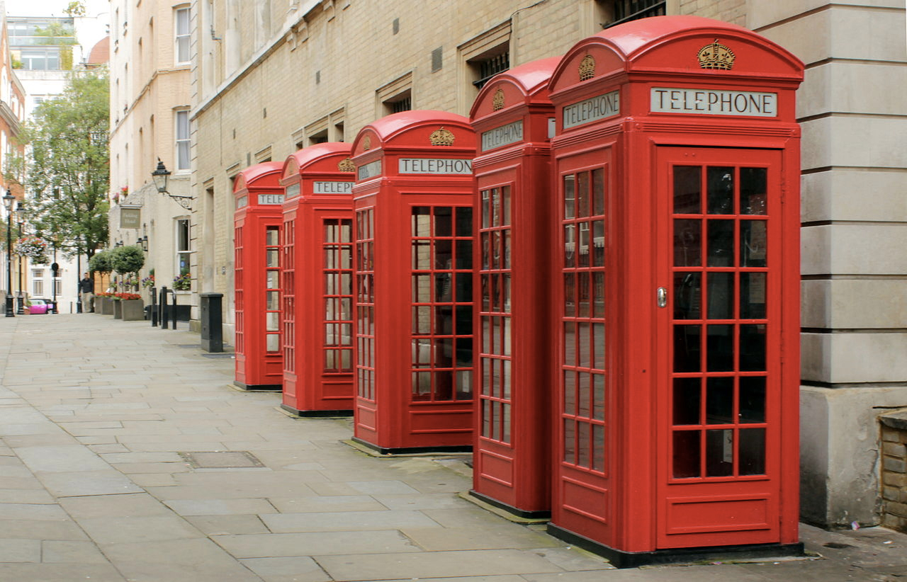 K2 Telephone kiosks at Broad Street, London. M0tty