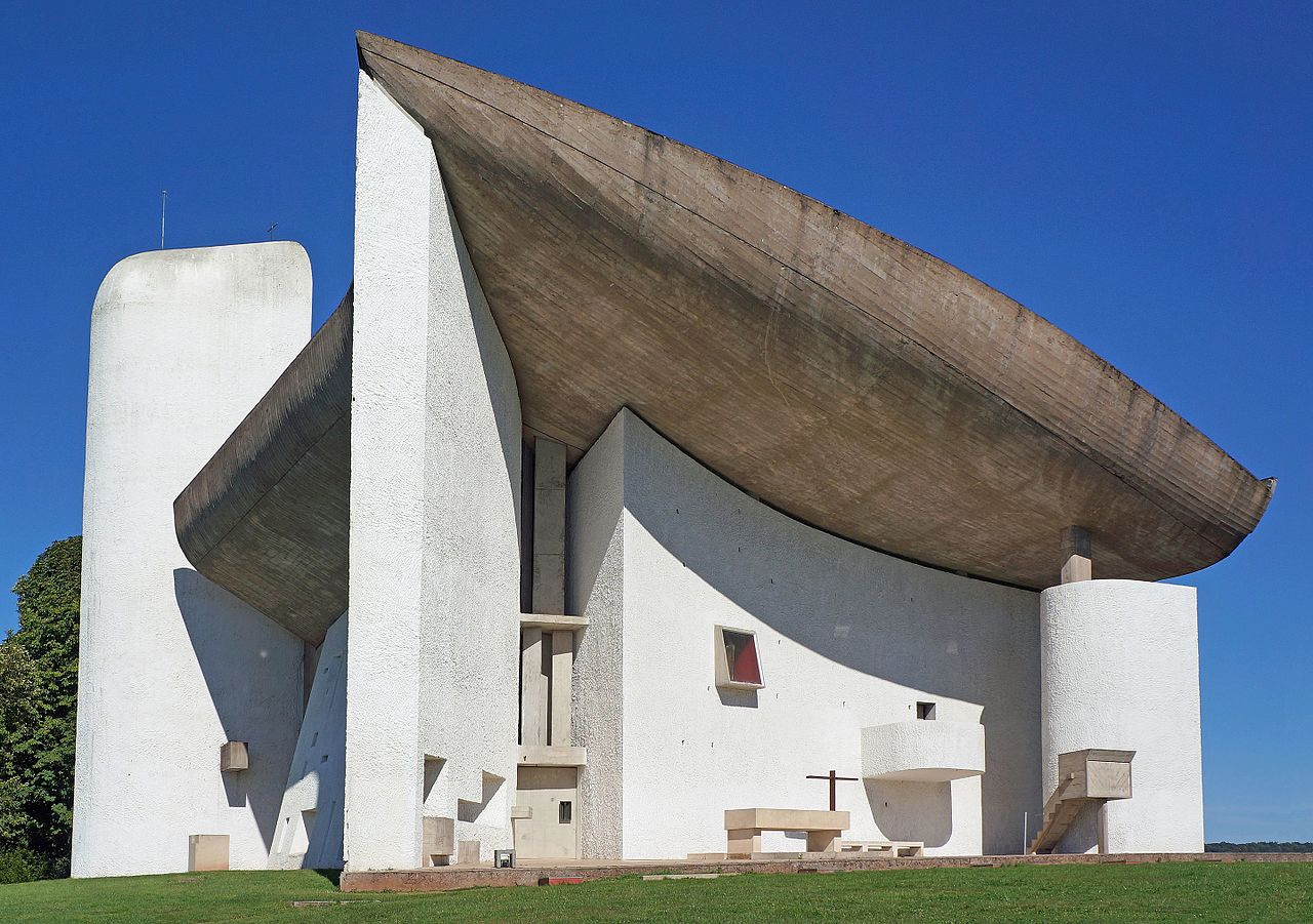 The chapel of Notre Dame by Le Corbusier