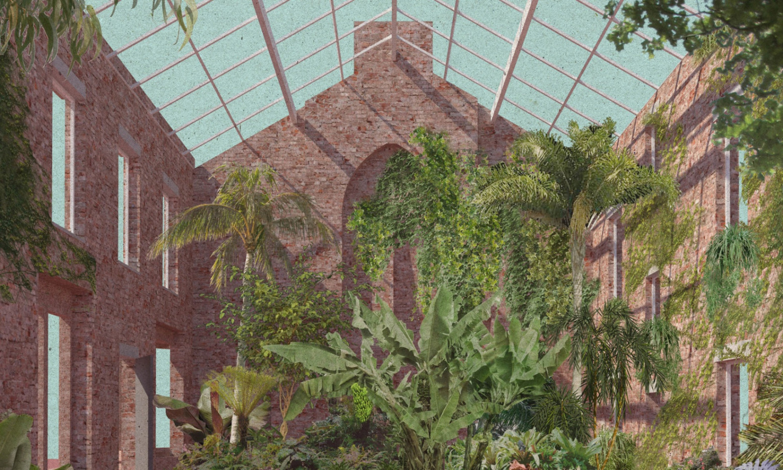 Assembles winter garden at Granby 4 Streets project