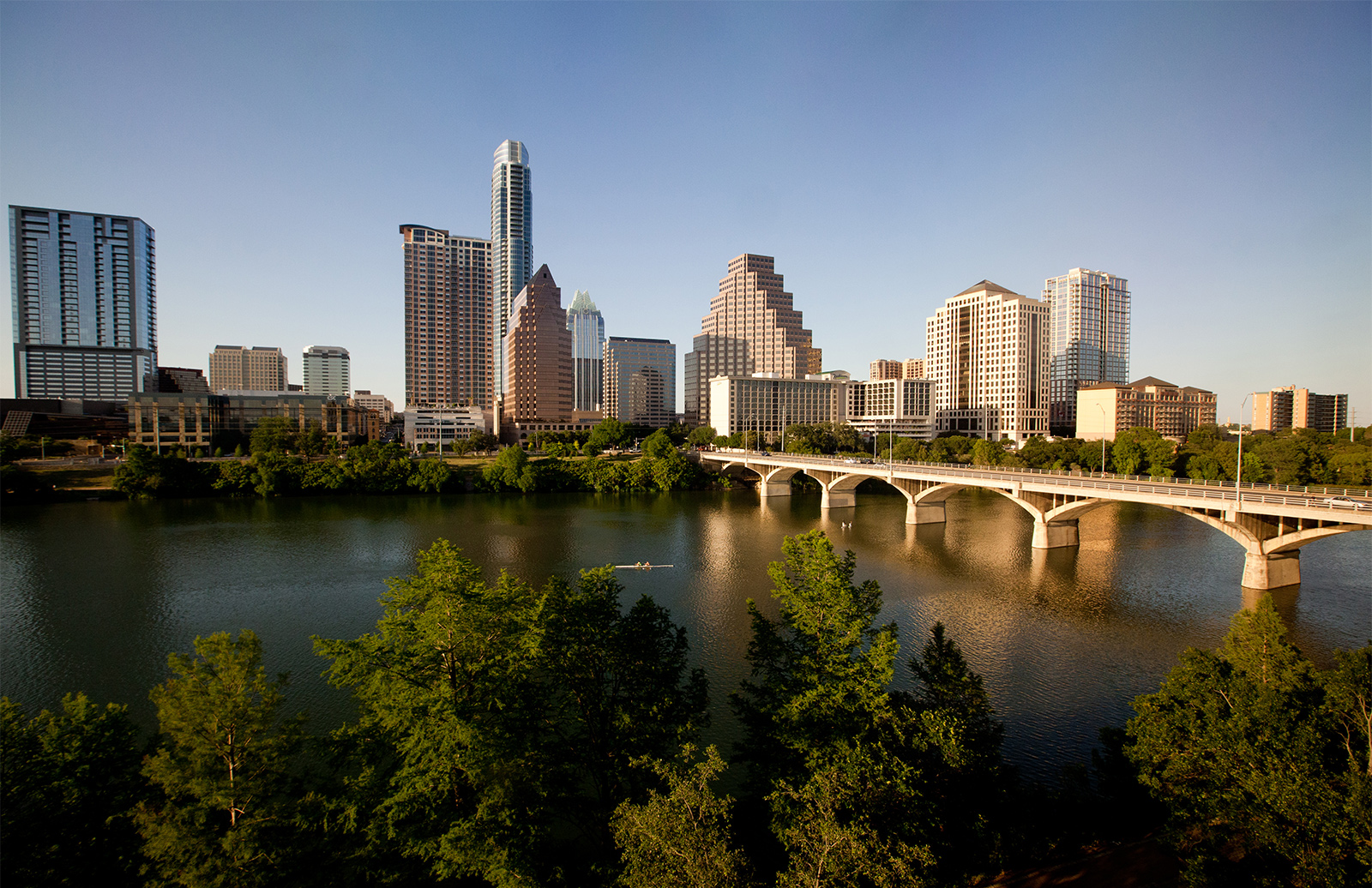 Austin skyline during summer