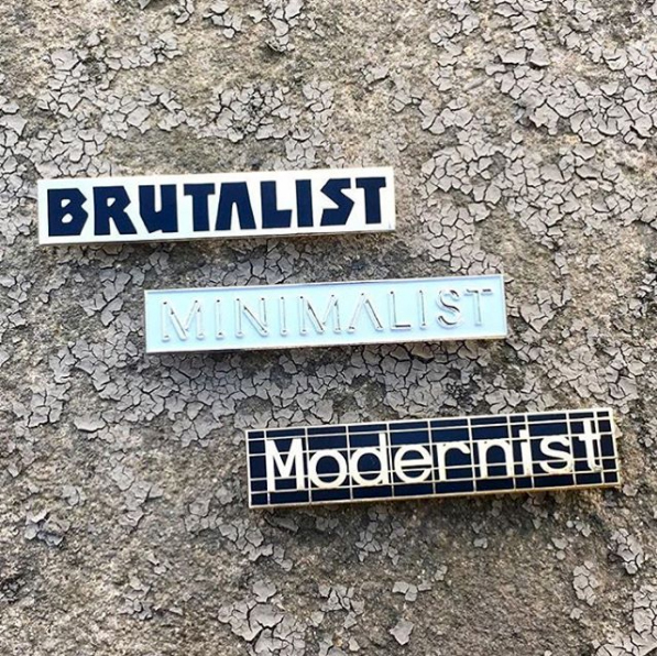 Brutalist minimalist modernist itchy scratchy patchy badges