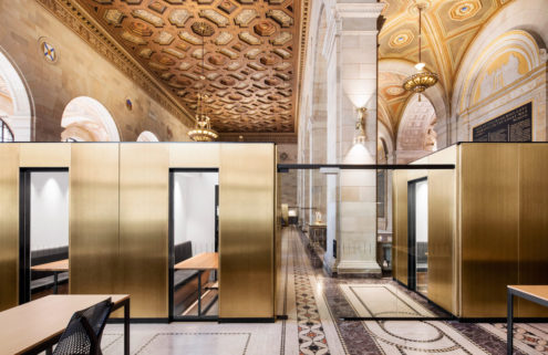 Adaptive reuse: bank turned -working hub in Montreal