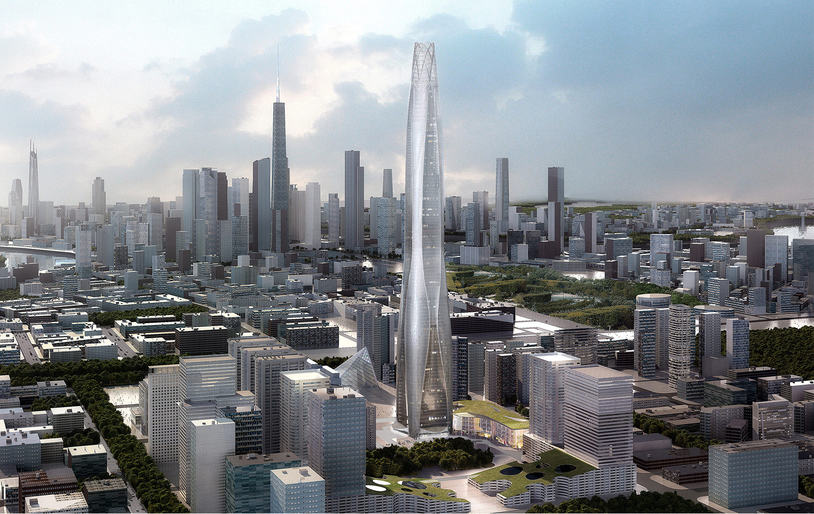 Tallest buildings topping out in 2017 –New World Tower Tianjin