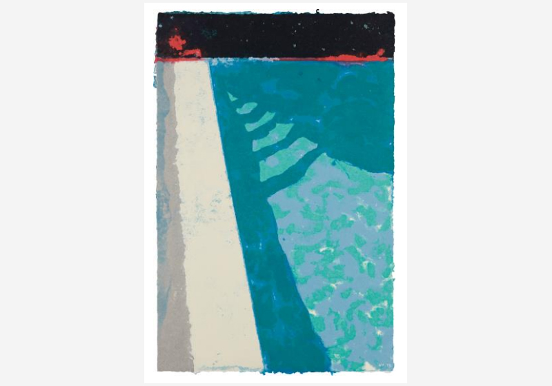 From Phillips' auction, 'Evening & Day Editions': David Hockney, Steps with Shadow F (Paper Pool 2), 1978. Lot 23. Estimate: £400,000-600,000