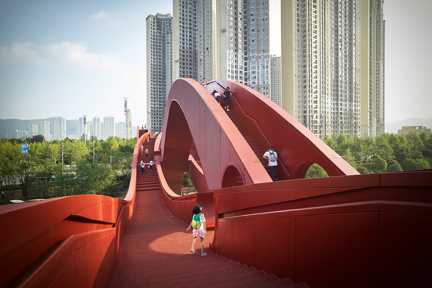 Lucky Knot Bridge in Changsha, China, by NEXT Architecture