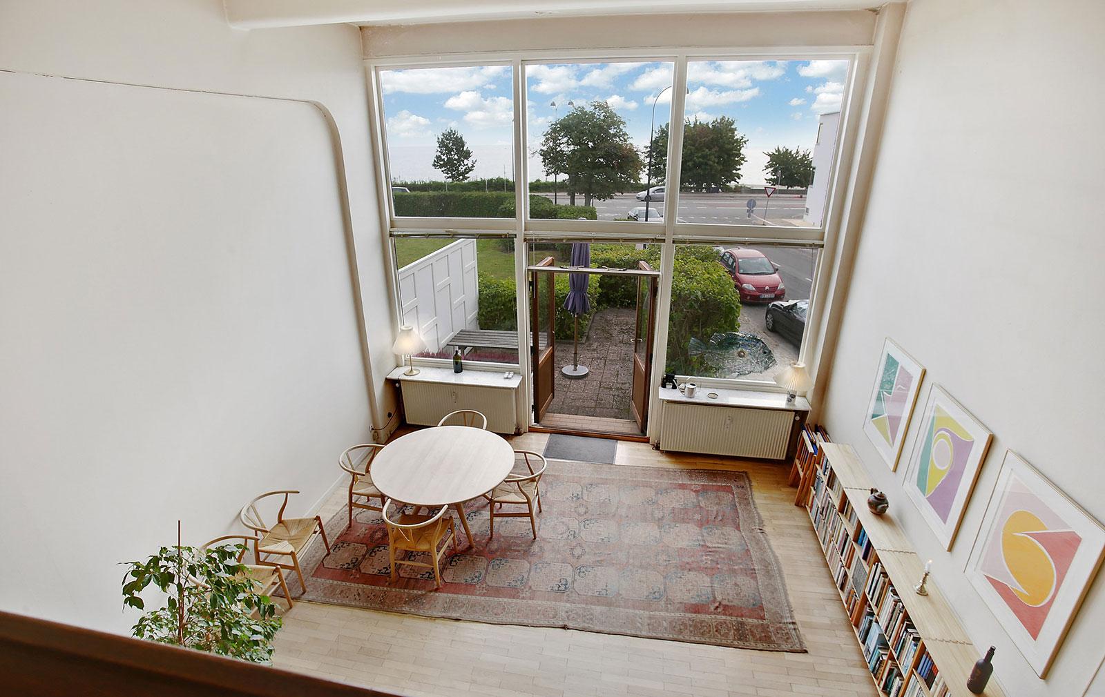 Copenhagen home designed by Arne Jacobsen inside Bellevue Teatret