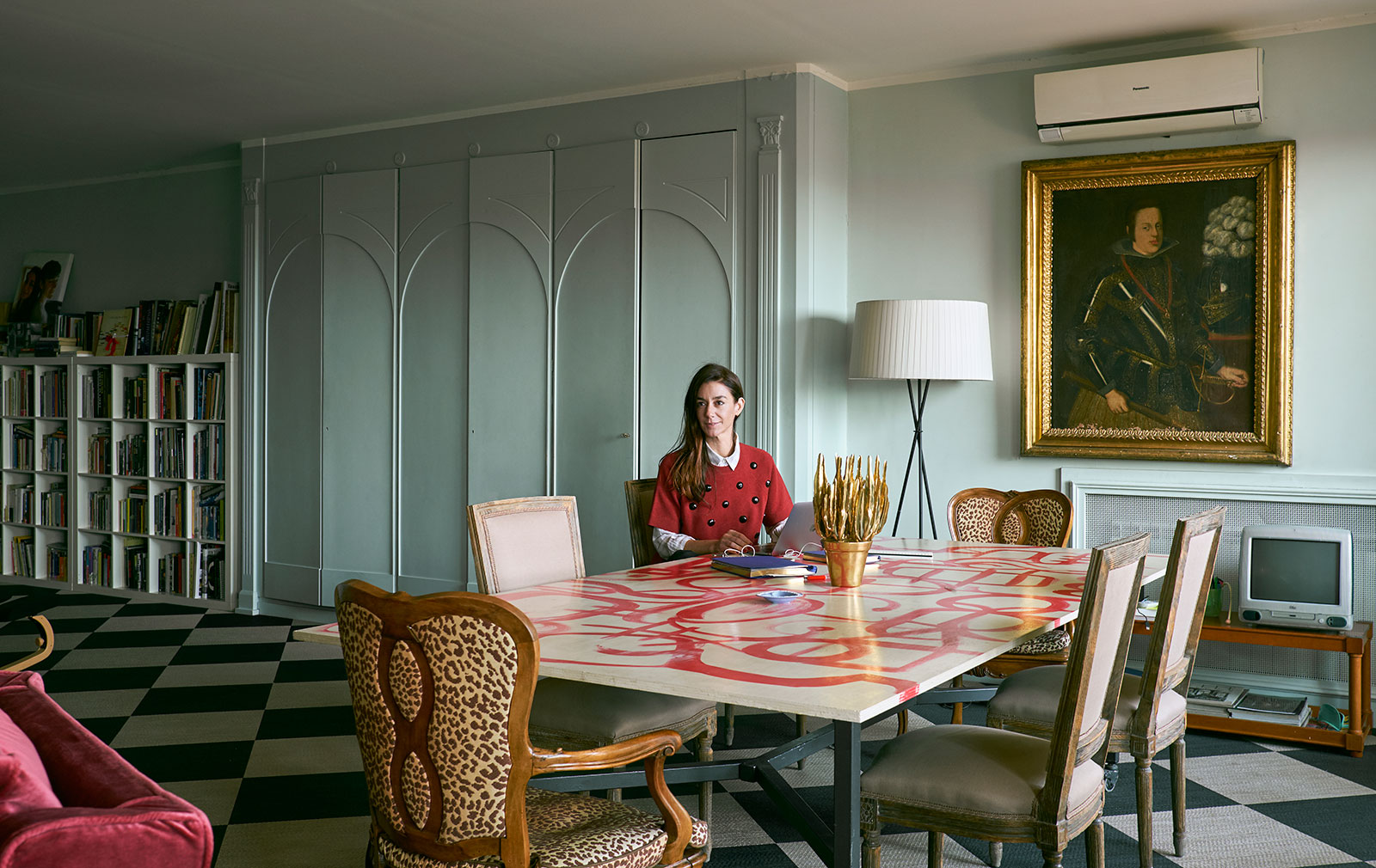 Marie-Louise Sciò at home in Rome