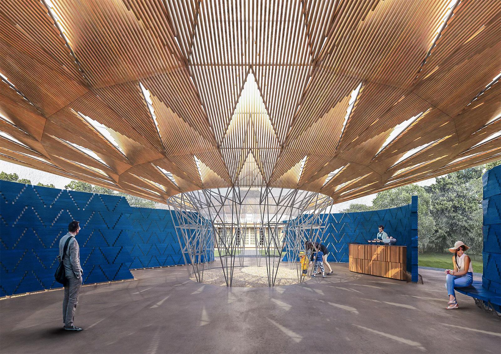 Diébédo Francis Kéré's Serpentine pavilion. Photography: Serpentine gallery