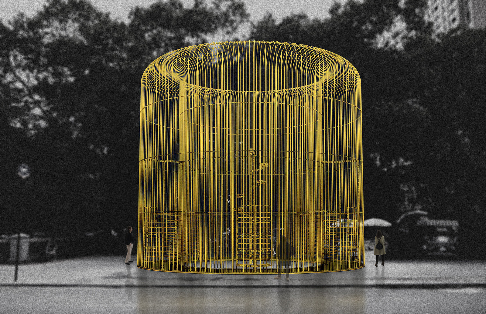 Render of Good Fences Make Good Neighbors by Ai Weiwei