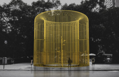 Artist Ai Weiwei is building more than 100 fences across NYC