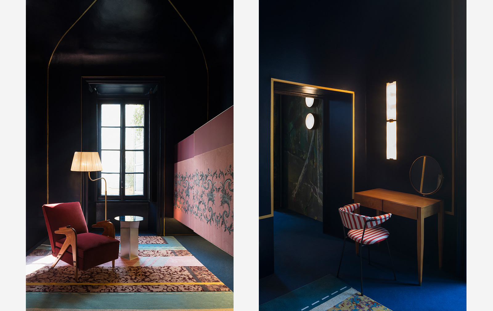 Interior designers using colour: Dimore Studio and their Milan apartment