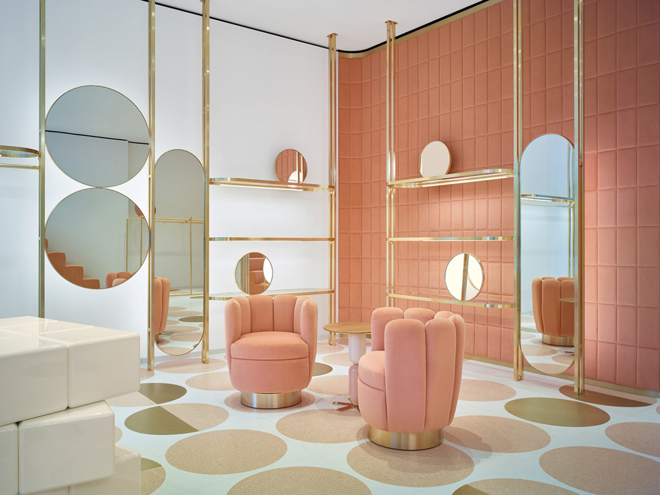 Interior designers who use colour in radical ways: India Mahdavi and her Red Valentino store design